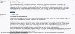 """""""Chance vertan"""", Der Tagesspiegel, Kommentar"""